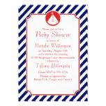 Fiesta de bienvenida al bebé azul y roja del veler