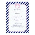 Fiesta de bienvenida al bebé azul y rosada del anuncio personalizado