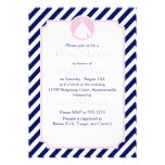 Fiesta de bienvenida al bebé azul y rosada del vel anuncio personalizado