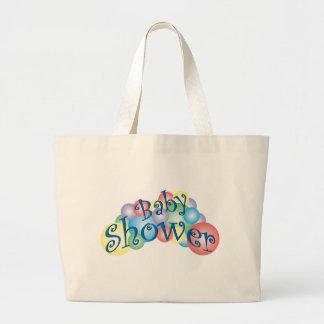 Fiesta de bienvenida al bebé burbujeante bolsa tela grande