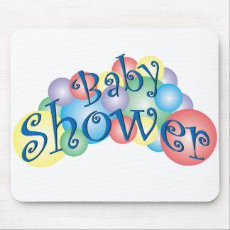 Fiesta de bienvenida al bebé burbujeante mousepad