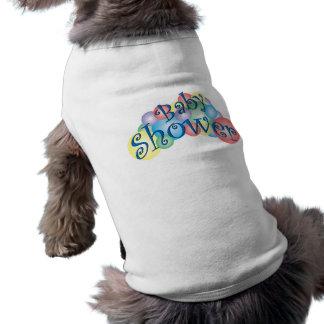 Fiesta de bienvenida al bebé burbujeante playera sin mangas para perro