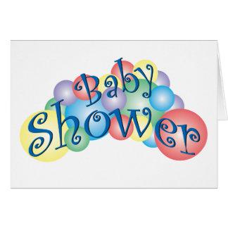 Fiesta de bienvenida al bebé burbujeante tarjeta de felicitación