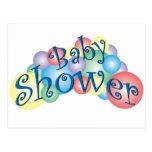 Fiesta de bienvenida al bebé burbujeante tarjetas postales