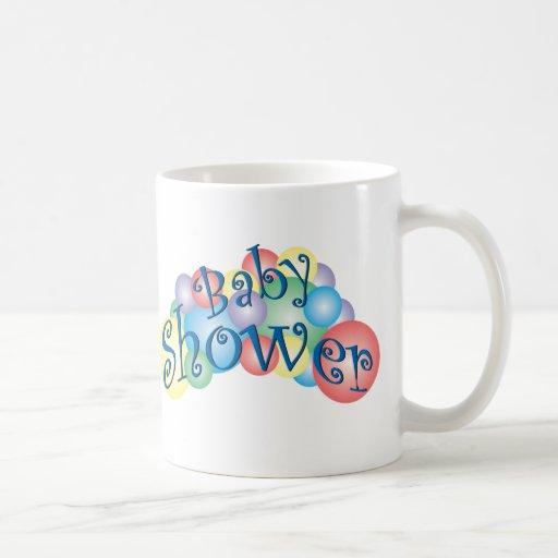 Fiesta de bienvenida al bebé burbujeante taza básica blanca