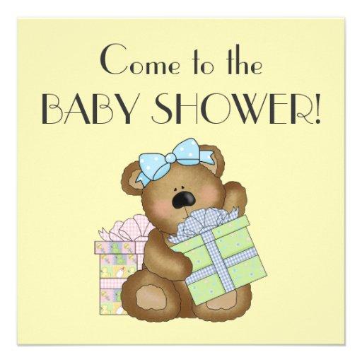 Fiesta de bienvenida al bebé+Cajas lindas del oso  Comunicados Personales