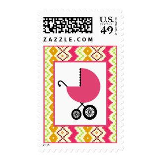Fiesta de bienvenida al bebé - carro rosado y envio