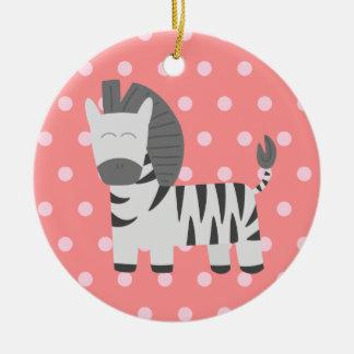 Fiesta de bienvenida al bebé: Cebra linda con los  Ornamento Para Arbol De Navidad