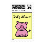 Fiesta de bienvenida al bebé (cerdo rosado) sellos