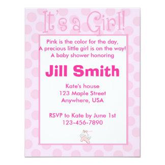 Fiesta de bienvenida al bebé - chica comunicados personalizados