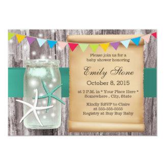 Fiesta de bienvenida al bebé con clase de madera invitación 12,7 x 17,8 cm