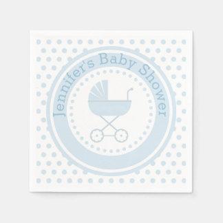 Fiesta de bienvenida al bebé con errores azul servilleta desechable