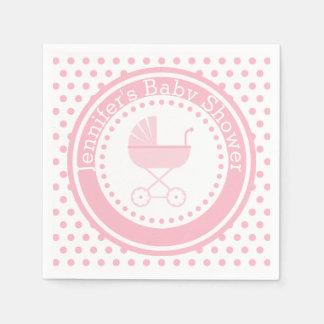 Fiesta de bienvenida al bebé con errores rosada servilletas desechables