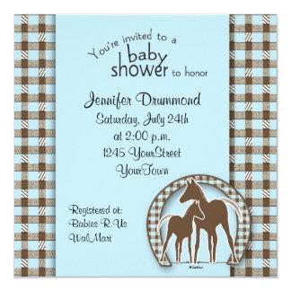 """Fiesta de bienvenida al bebé con la plantilla de invitación 5.25"""" x 5.25"""""""