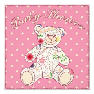 """Fiesta de bienvenida al bebé con rosa del juguete invitación 5.25"""" x 5.25"""""""