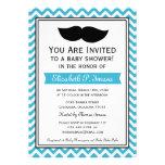 Fiesta de bienvenida al bebé de Chevron del bigote Invitaciones Personales