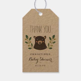 Fiesta de bienvenida al bebé de Cub de oso Etiquetas Para Regalos