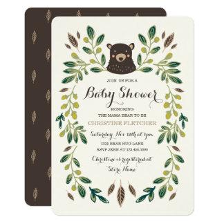 """Fiesta de bienvenida al bebé de Cub de oso Invitación 5"""" X 7"""""""
