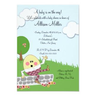 """Fiesta de bienvenida al bebé de Humpty Dumpty Invitación 5"""" X 7"""""""