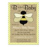 Fiesta de bienvenida al bebé de la abeja y de la invitaciones personales