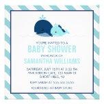 Fiesta de bienvenida al bebé de la ballena de la m invitaciones personalizada