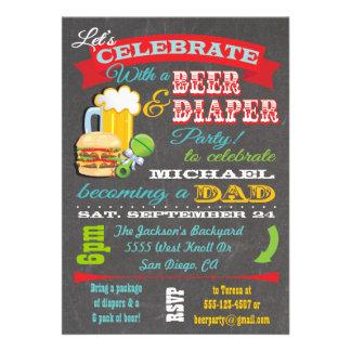 Fiesta de bienvenida al bebé de la cerveza y del p