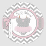 Fiesta de bienvenida al bebé de la impresión de etiquetas redondas