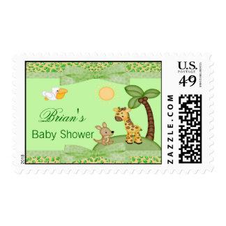 Fiesta de bienvenida al bebé de la impresión del sellos