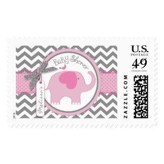 Fiesta de bienvenida al bebé de la impresión del timbres postales