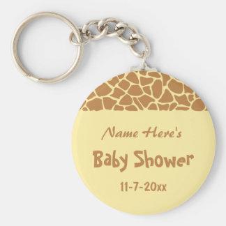 Fiesta de bienvenida al bebé de la jirafa llavero