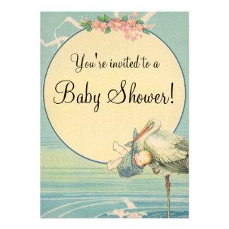Fiesta de bienvenida al bebé de la manta azul del comunicados personalizados