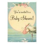 Fiesta de bienvenida al bebé de la manta del rosa  invitacion personal