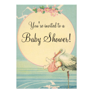Fiesta de bienvenida al bebé de la manta del rosa comunicados personales