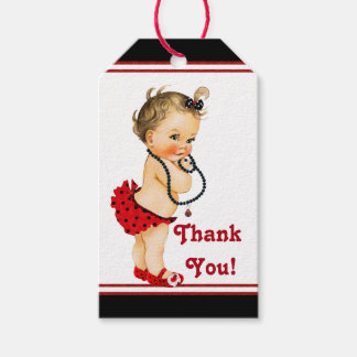 Fiesta de bienvenida al bebé de la mariquita de etiquetas para regalos