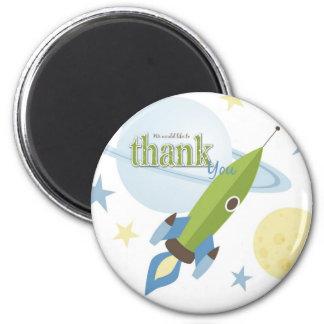 Fiesta de bienvenida al bebé de la nave espacial y iman