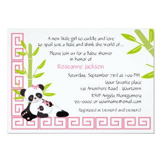 Fiesta de bienvenida al bebé de la panda de la invitaciones personalizada