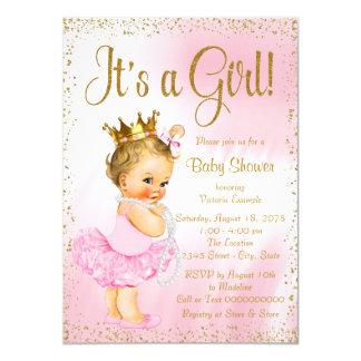 """Fiesta de bienvenida al bebé de la perla del tutú invitación 4.5"""" x 6.25"""""""