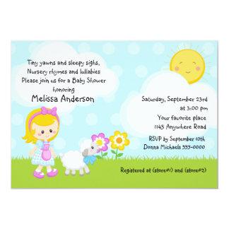 Fiesta de bienvenida al bebé de la poesía infantil invitación 12,7 x 17,8 cm