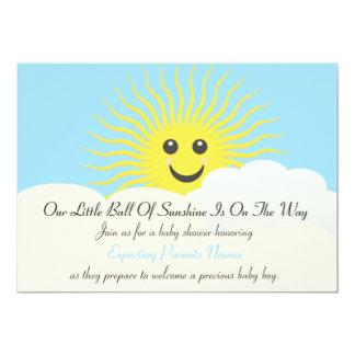 """Fiesta de bienvenida al bebé de la sol invitación 5"""" x 7"""""""