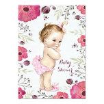 Fiesta de bienvenida al bebé de las amapolas de la invitación 12,7 x 17,8 cm