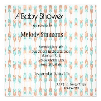 Fiesta de bienvenida al bebé de las flechas invitacion personalizada