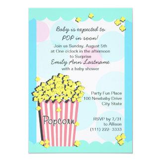 Fiesta de bienvenida al bebé de las palomitas anuncio personalizado