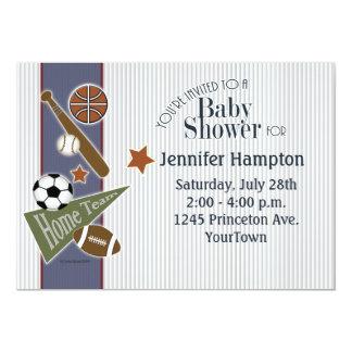Fiesta de bienvenida al bebé de los deportes invitaciones personales