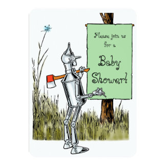 Fiesta de bienvenida al bebé de mago de Oz Tinman Invitación 11,4 X 15,8 Cm