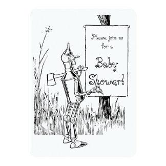 """Fiesta de bienvenida al bebé de mago de Oz Tinman Invitación 4.5"""" X 6.25"""""""