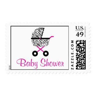 Fiesta de bienvenida al bebé de moda del carro de sello