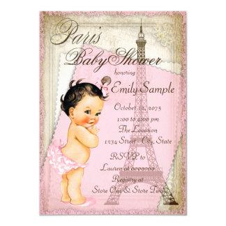 """Fiesta de bienvenida al bebé de París del vintage Invitación 4.5"""" X 6.25"""""""