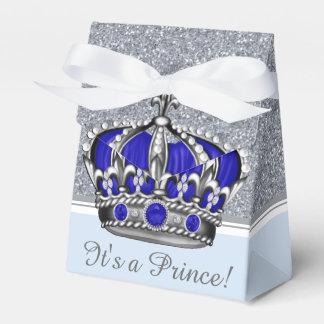 Fiesta de bienvenida al bebé de plata azul del cajas para regalos de fiestas