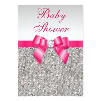 Fiesta de bienvenida al bebé de plata de los invitación 12,7 x 17,8 cm