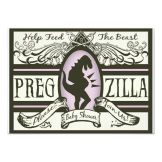 Fiesta de bienvenida al bebé de Pregzilla Comunicado Personalizado
